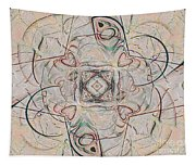 Abstract With Hearts Tapestry