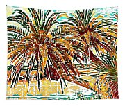 Abstracted Loop Palms Tapestry