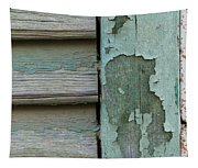 Abstraction In Peeling Paint Close-up Tapestry