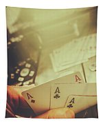 Aces Up The Sleeve Tapestry