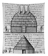 Acolapissa Temple & Cabin Tapestry