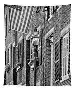 Acorn Street Details Bw Tapestry
