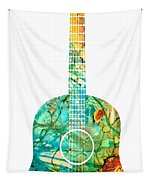 Acoustic Guitar 2 - Colorful Abstract Musical Instrument Tapestry