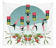 Acrobatic Parcel Delivery Tapestry