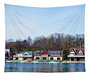Across From Boathouse Row - Philadelphia Tapestry