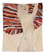Act Against Colored Material Tapestry