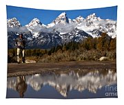Adam Jewell At Schwabacher Landing Tapestry