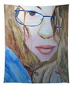 Addie In Blue Tapestry