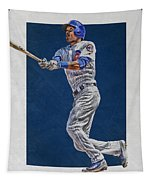 Addison Russell Chicago Cubs Art Tapestry
