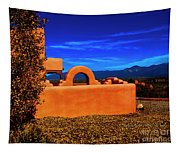 Adobe At Sunset Tapestry