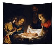 Adoration Of The Child Tapestry
