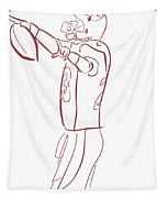 Adrian Peterson Cardinals Tapestry