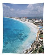 Aerial Of Cancun Tapestry