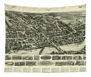 Aero View Of Watertown, Connecticut  Tapestry