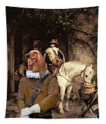 Afghan Hound-at The Tavern Canvas Fine Art Print Tapestry