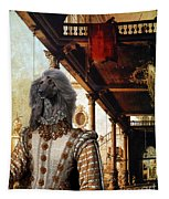 Afghan Hound-capriccio Of Colonade And The Courtyard Of A Palace Canvas Fine Art Print Tapestry