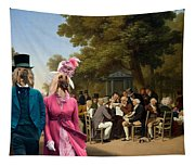 Afghan Hound-politicians In The Tuileries Gardens  Canvas Fine Art Print Tapestry