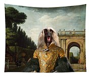 Afghan Hound-the Afternoon Promenade In Rome  Canvas Fine Art Print Tapestry