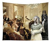 Afghan Hound-the Concert  Canvas Fine Art Print Tapestry