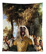 Afghan Hound-the Winch Canvas Fine Art Print Tapestry