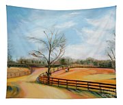 After The Ride By Karen E. Francis Tapestry