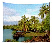 Afternoon At Mauna Lani Hawaii Tapestry