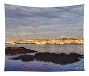 Afternoon Sun On Marblehead Neck Tapestry