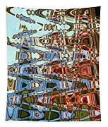 Agate Beach Tree Abstract Tapestry
