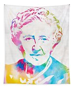 Agatha Christie Watercolor Tribute Tapestry