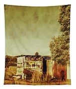 Aged Australia Countryside Scene Tapestry