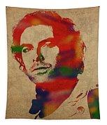 Aidan Turner As Poldark Watercolor Portrait Tapestry