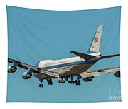 Air Force One On Final Approach Into Charleston South Carolina Tapestry