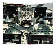 Aircraft Airplane Control Panel Tapestry