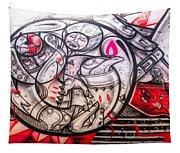 Airplane Grafitti Tapestry