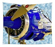 Airplane Propeller And Engine T28 Trojan 02 Tapestry