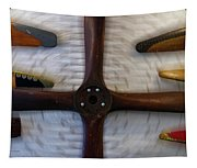 Airplane Wooden Propellers 01 Tapestry