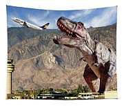 Airport Snack Bar Plane Food Tapestry