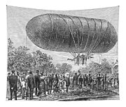 Airship Ascent, 1883 Tapestry