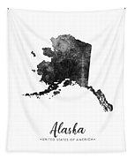 Alaska State Map Art - Grunge Silhouette Tapestry