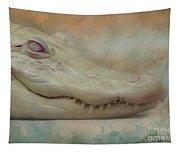 Albino Alligator Tapestry