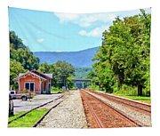 Alderson Train Depot And Tracks Alderson West Virginia Tapestry