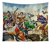 Alexander The Great At The Battle Of Issus  Tapestry