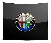 Alfa Romeo - 3 D Badge On Black Tapestry
