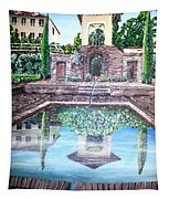 Alhambra Spain Reflections Tapestry