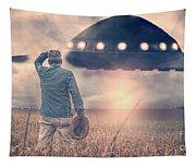 Alien Invasion Tapestry