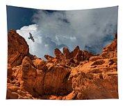 Alien Landscape Valley Of Fire Tapestry