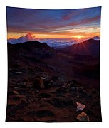 Alien Sunrise Tapestry