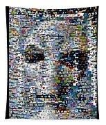 Alien Ufo Mosaic Tapestry