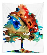 All Seasons Tree 3 - Colorful Landscape Print Tapestry