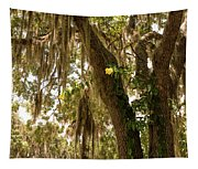 Allamanda And Oak Tree Tapestry